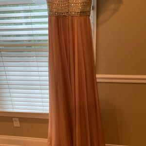Sherri Hill Dresses - Sherri Hill Chiffon Rhinestone Strapless Dress 4